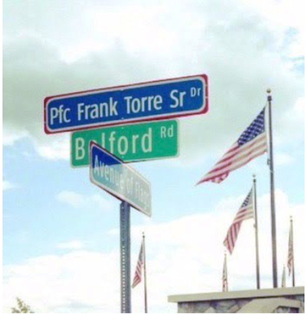 Frank Torre's Generous Donation paves the way to honor fallen heroes.